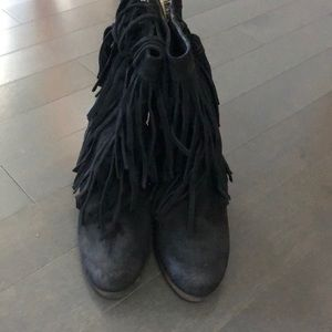 Denim & Supply fringe suede boots